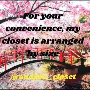 For Your Convenience my closet is arranged by size